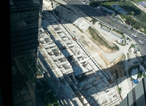 Vista aérea del solar frente a las 4 Torres Foto: Juan Luis Jáen
